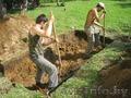 Землекопы: траншеи,  ямы,  равнение участка