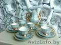 Чайный польский сервиз на 4 персоны в наборе чайник,  сахарница,  сливочница