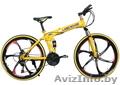 Велосипед на литых дисках Land Rover (Желтый)