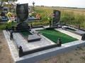 Благоустройство,  укладка плитки на могилу  Любань